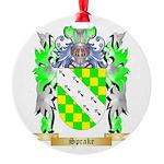 Sprake Round Ornament