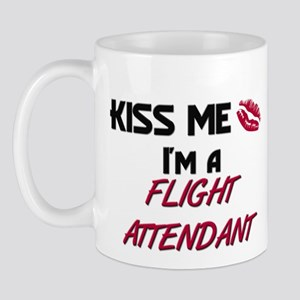 Kiss Me I'm a FLIGHT ATTENDANT Mug
