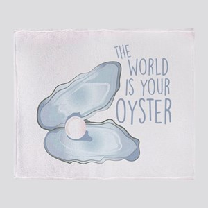 World Is Oyster Throw Blanket