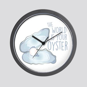 World Is Oyster Wall Clock