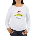 I Love Taxis Women's Long Sleeve T-Shirt