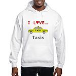 I Love Taxis Hooded Sweatshirt