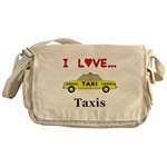 I Love Taxis Messenger Bag