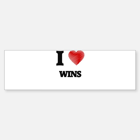 I love Wins Bumper Bumper Bumper Sticker