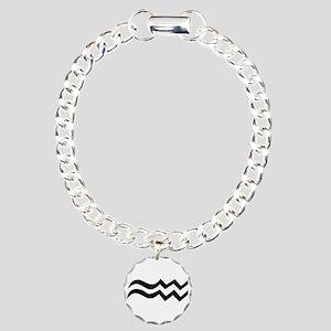 Aquarius Charm Bracelet, One Charm