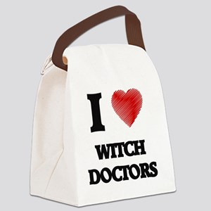 I love Witch Doctors Canvas Lunch Bag