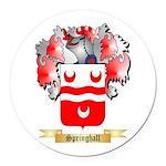 Springhall Round Car Magnet