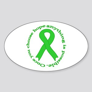 Lime Green Hope Oval Sticker