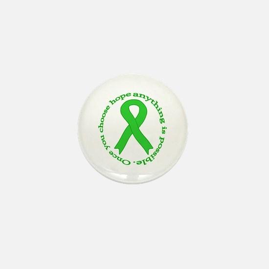 Lime Green Hope Mini Button