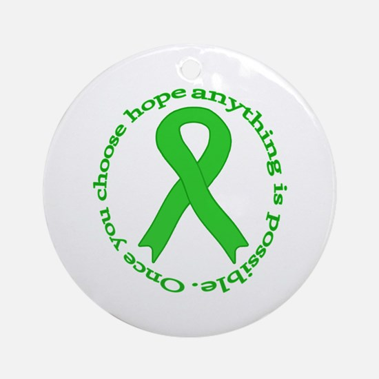 Lime Green Hope Ornament (Round)