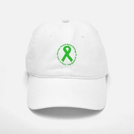 Lime Green Hope Baseball Baseball Cap