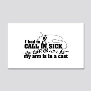 Arm in a Cast Fishing Car Magnet 20 x 12