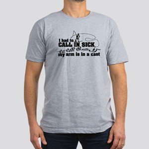 Arm in a Cast Fishing T-Shirt