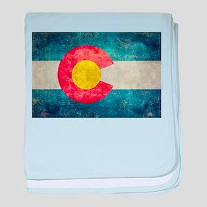Colorado State flag retro style vinta baby blanket