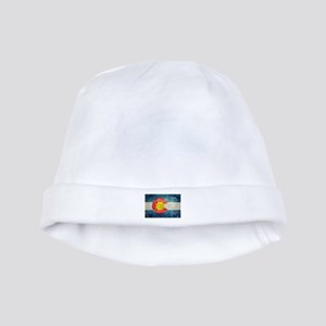 Colorado State flag retro style vintage baby hat