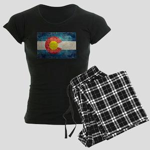 Colorado State flag retro st Women's Dark Pajamas