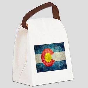 Colorado State flag retro style v Canvas Lunch Bag