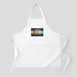 Colorado State flag retro style vintage Apron