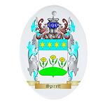 Spirett Oval Ornament