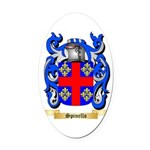 Spinello Oval Car Magnet