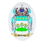 Spillings Oval Ornament