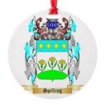 Spilling Round Ornament