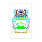 Spilling Sticker (Rectangle 50 pk)