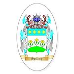 Spilling Sticker (Oval 50 pk)