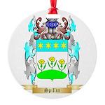 Spillin Round Ornament