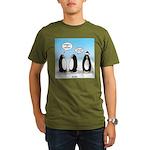 Penguin Christmas Organic Men's T-Shirt (dark)