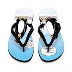 Penguin Christmas Flip Flops