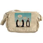 Penguin Christmas Messenger Bag