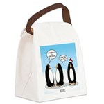 Penguin Christmas Canvas Lunch Bag