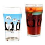 Penguin Christmas Drinking Glass