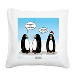 Penguin Christmas Square Canvas Pillow