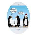 Penguin Christmas Oval Ornament