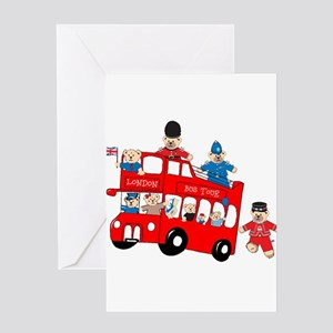 LDN only Bus Tour Greeting Cards