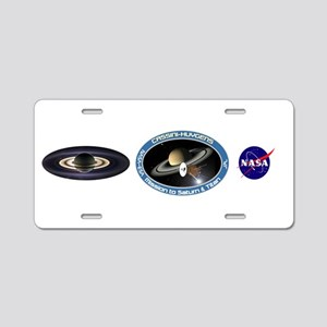 Earth From Saturn Aluminum License Plate