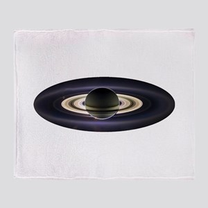 Earth From Saturn Throw Blanket