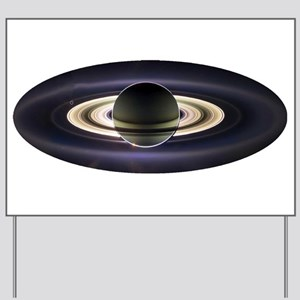 Earth From Saturn Yard Sign