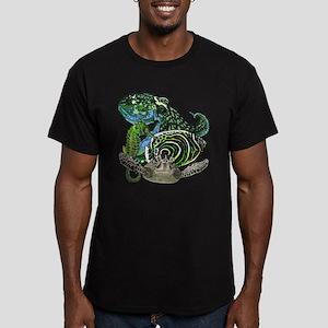 Marine life Men's Fitted T-Shirt (dark)