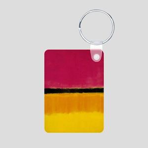 ROTHKO MAGENTA YELLOW BLACK 2 Keychains