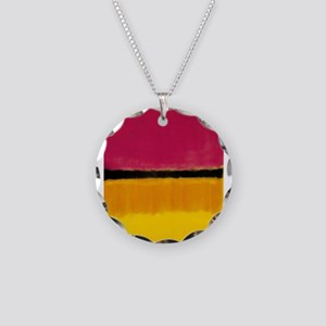 ROTHKO MAGENTA YELLOW BLACK 2 Necklace