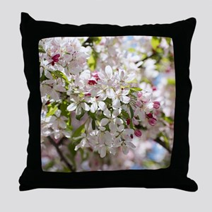 Spring Apple Tree Blossoms Throw Pillow