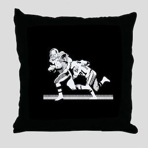 Football Players Tackle Throw Pillow