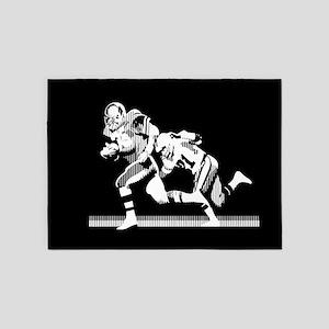 Football Players Tackle 5'x7'Area Rug
