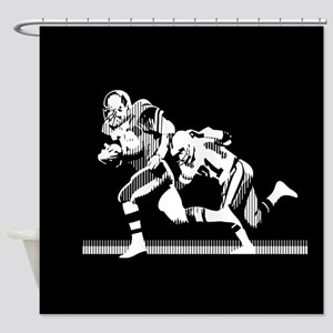 Football Players Tackle Shower Curtain
