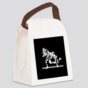 Football Players Tackle Canvas Lunch Bag
