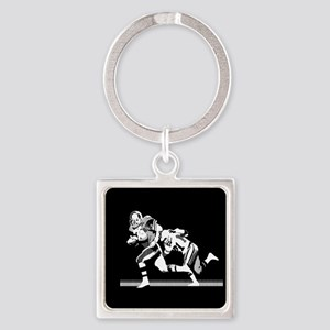 Football Players Tackle Keychains