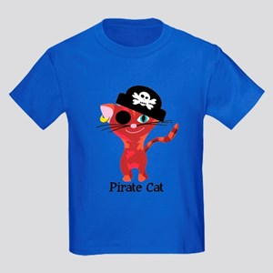 Pirate Cat Kids Dark T-Shirt